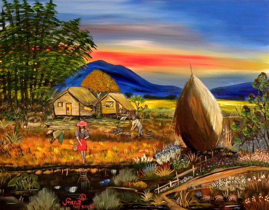 Bahay Kubo Philippines Philippine art, Filipino art