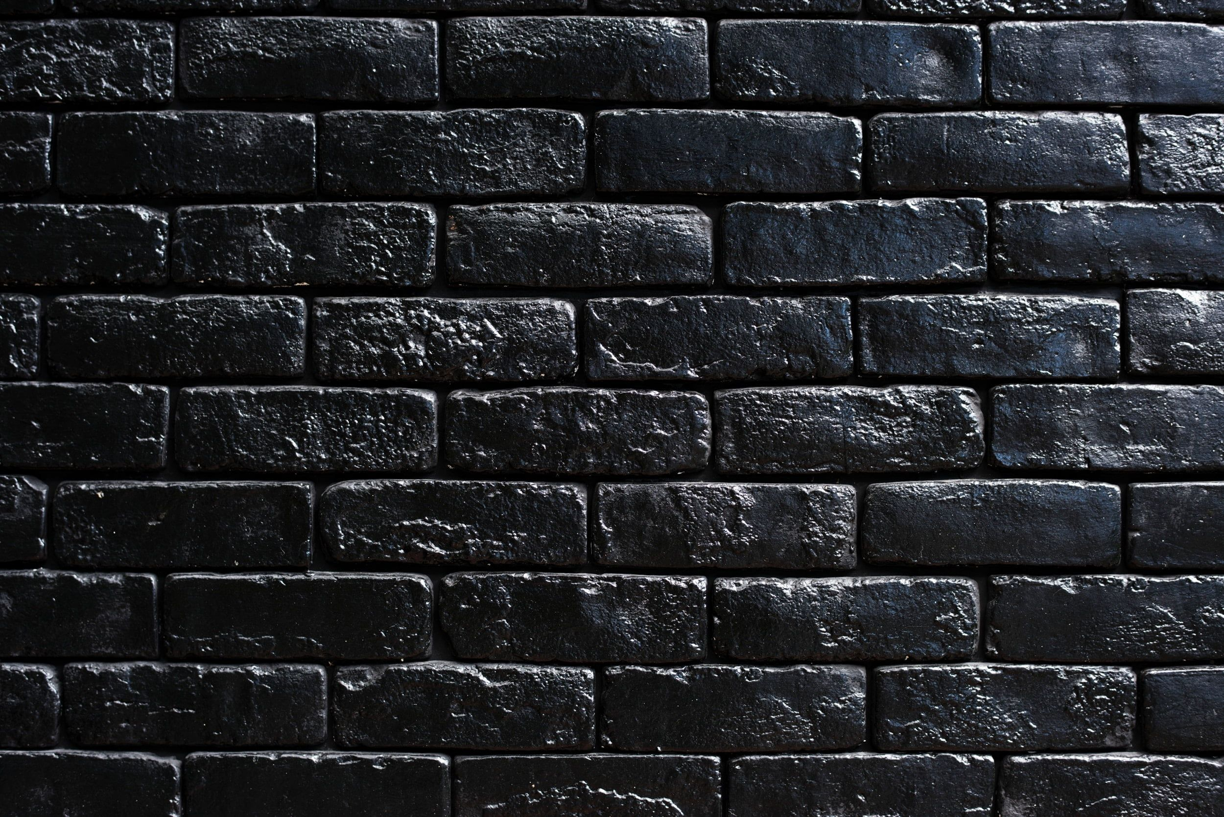 Black Wall Bricks Wall Bricks Black Paint 1080p Wallpaper Hdwallpaper Desktop Black Brick Wall Black Brick Black Brick Wallpaper
