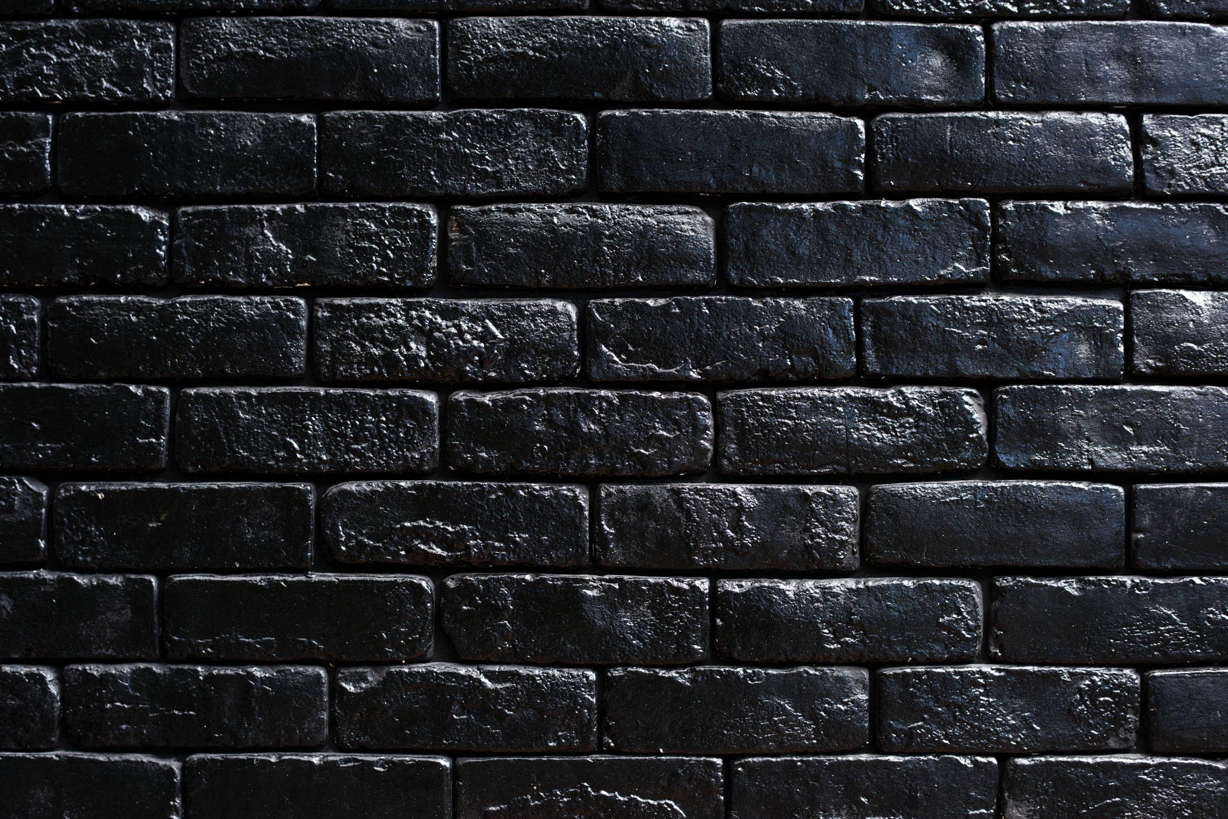Black Wall Bricks Wall Bricks Black Paint 1080p Wallpaper Hdwallpaper Desktop Black Brick Wall Black Brick Textured Walls