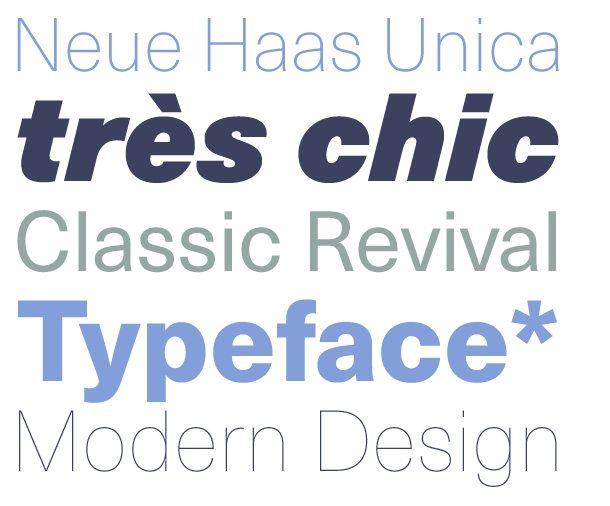 Die Neue Haas Unica von  Schriftdesigner Toshi Omagari #Typografie #Typedesign #Typo
