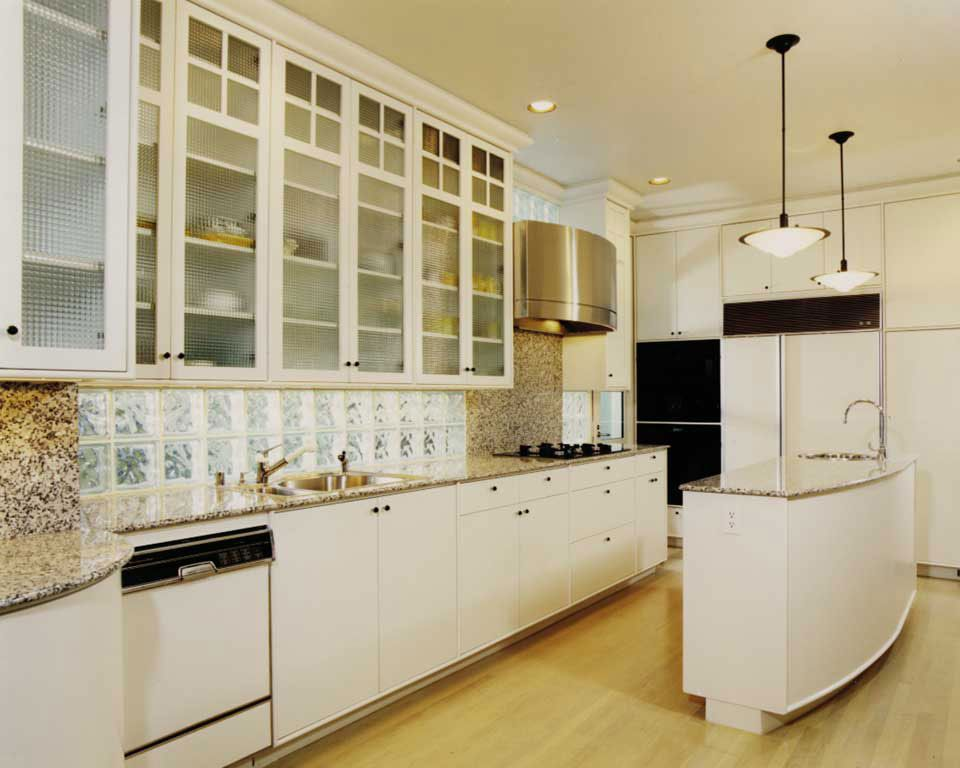 nice Art Deco Style Kitchen Cabinets #1: art deco | Art Deco Kitchen (love the glass block backsplash/light source)