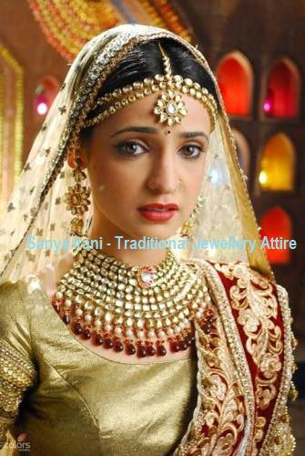 Sanaya irani TV Shows with traditional indian jewelry designs