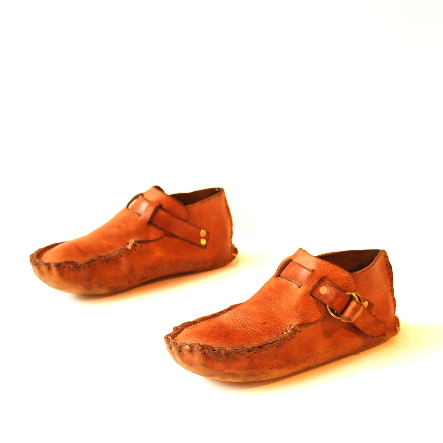 mens size 95 NATIVE AMERICAN tan 70s HANDMADE by CairoVintage, $48.00