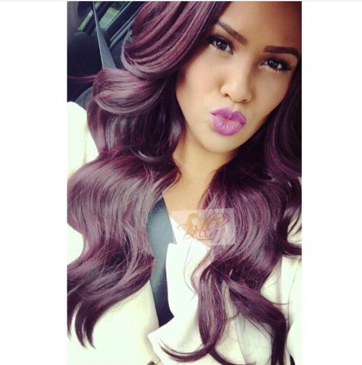 Love this reddish purple hair color | Hair ideas ...