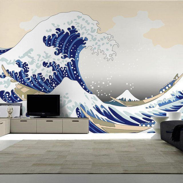 This beautiful reusable wall mural inspired by the famous painting