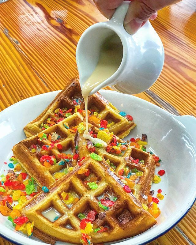 My Fav Childhood Saturday Morning Cereal In Waffle Form