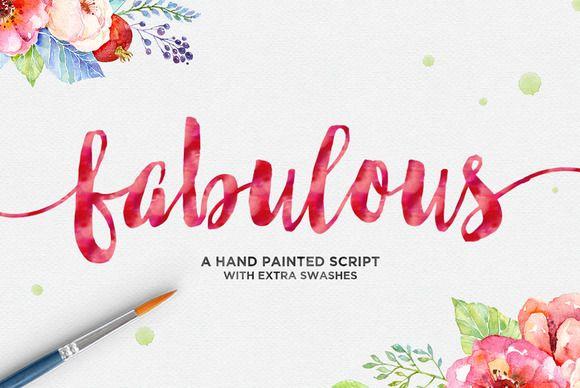 Fabulous Script Watercolor Font New Fonts Creative