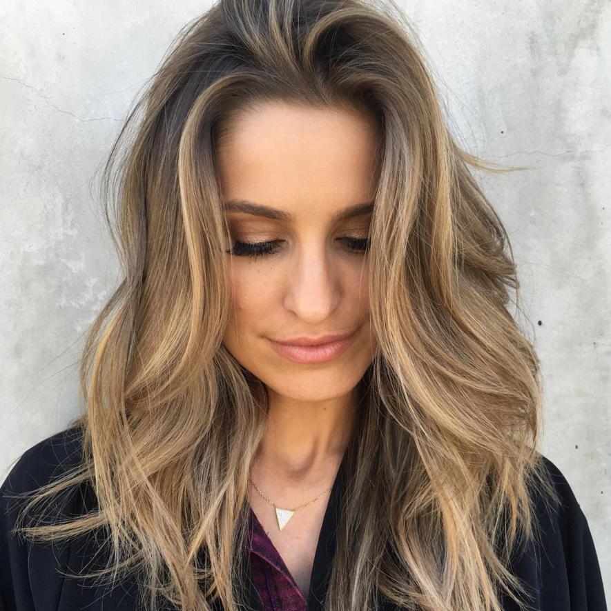 Красивое светлое окрашивание волос