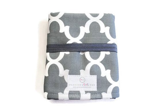 Gray Fynn Travel Changing Pad - Baby Changing Pad - Waterproof Changing Pad - Baby Accessories