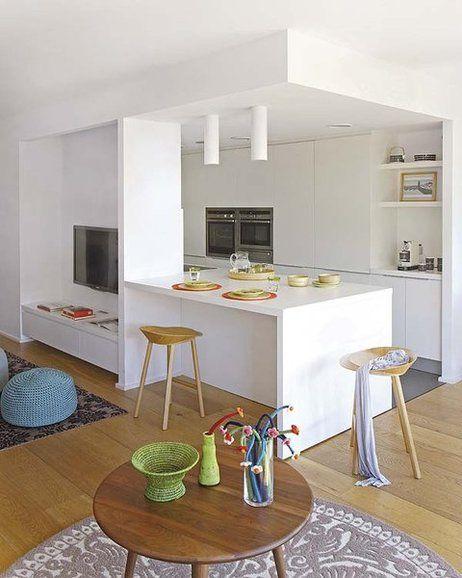 Un Atico De Vanguardia Cocina Integrada En Salon Cocinas