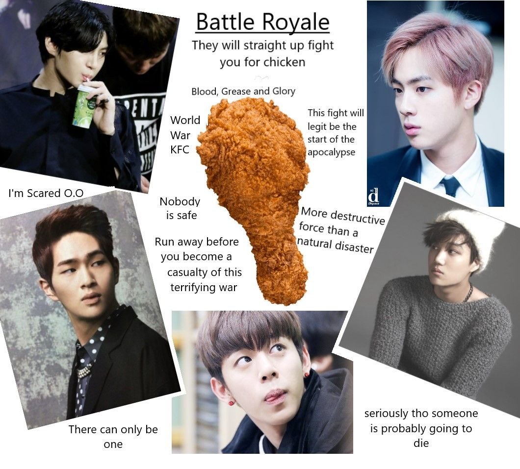 Kpop And The Battle For Chicken The Kpop Idols That Always Seem To Be Eating Onew Shinee Jin Bts Kai Exo Daehyun Bap Leo Shinee Korean Music Kpop Memes