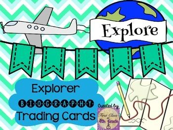 Explorer Biography Template  My Tpt Products    Social