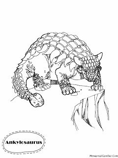 Gambar Mewarnai Dinosaurus Ankylosaurus With Images Color