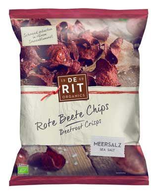 De Rit Rote Beete Chips Meersalz 75g