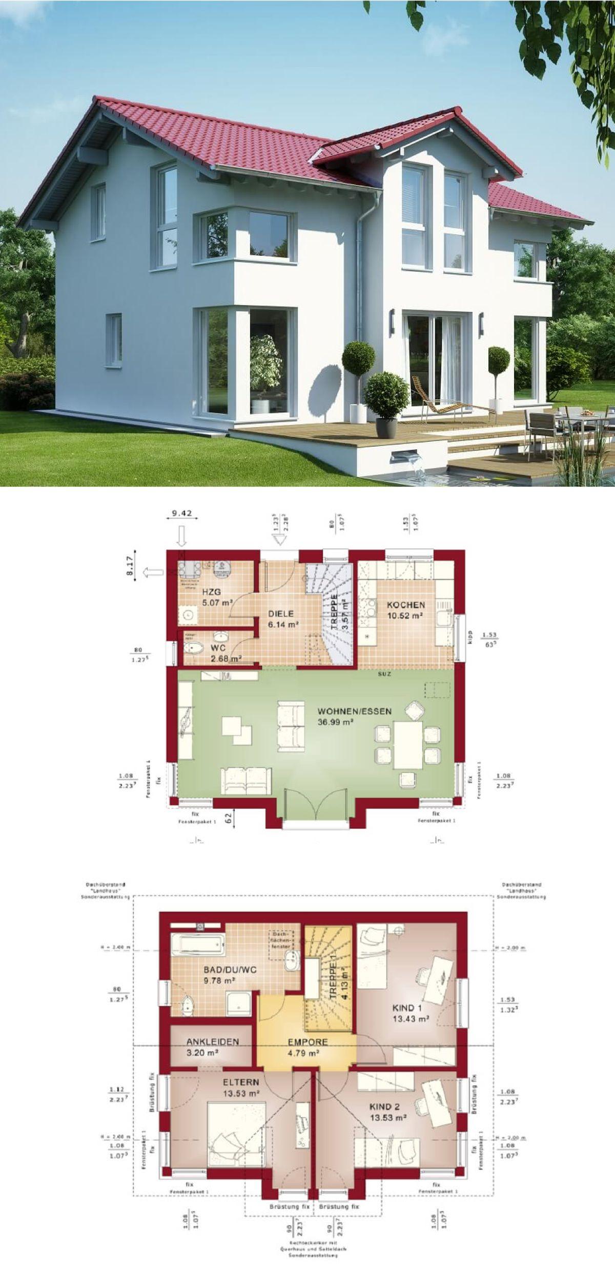 Stadthaus mit Satteldach - Haus Evolution 125 V4 Bien Zenker ...