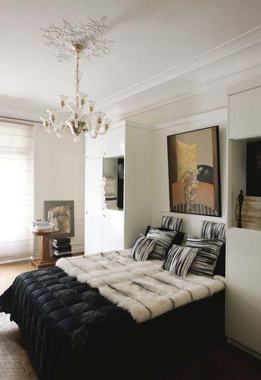 La chambre au style classique et nature - Déco éclectique pour cet appart' haussmannien - CôtéMaison.fr