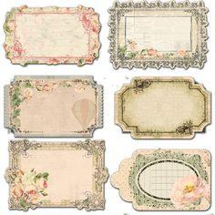 Scroll Name Tags Google Search Free Vintage Printables Vintage Labels Printable Labels