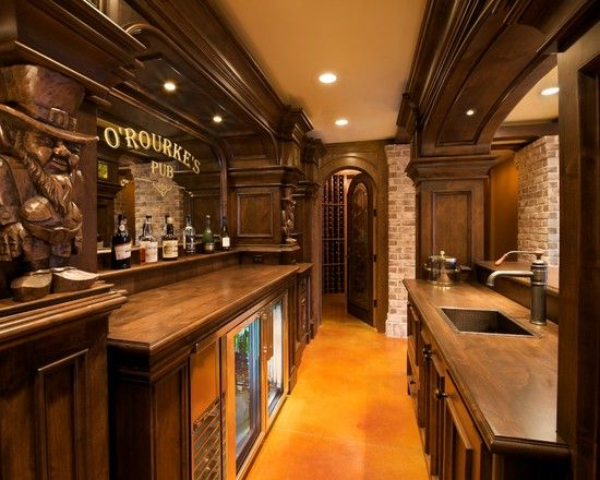 Amusing Irish Pub Decorating Ideas Stunning Rustic Wine Cellar With Irish Pub Decorating Ideas With Old Faucet And Counter Bars For Home Home Pub Diy Home Bar