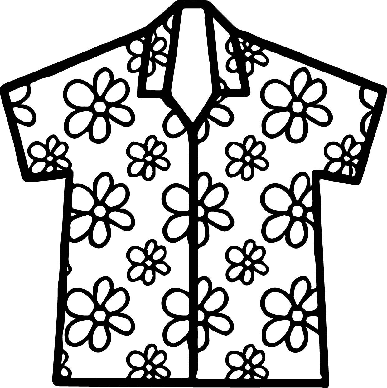 Awesome Hawaii Shirt Coloring Page Coloring Pages Printable Flash Cards Free Printable Coloring Pages
