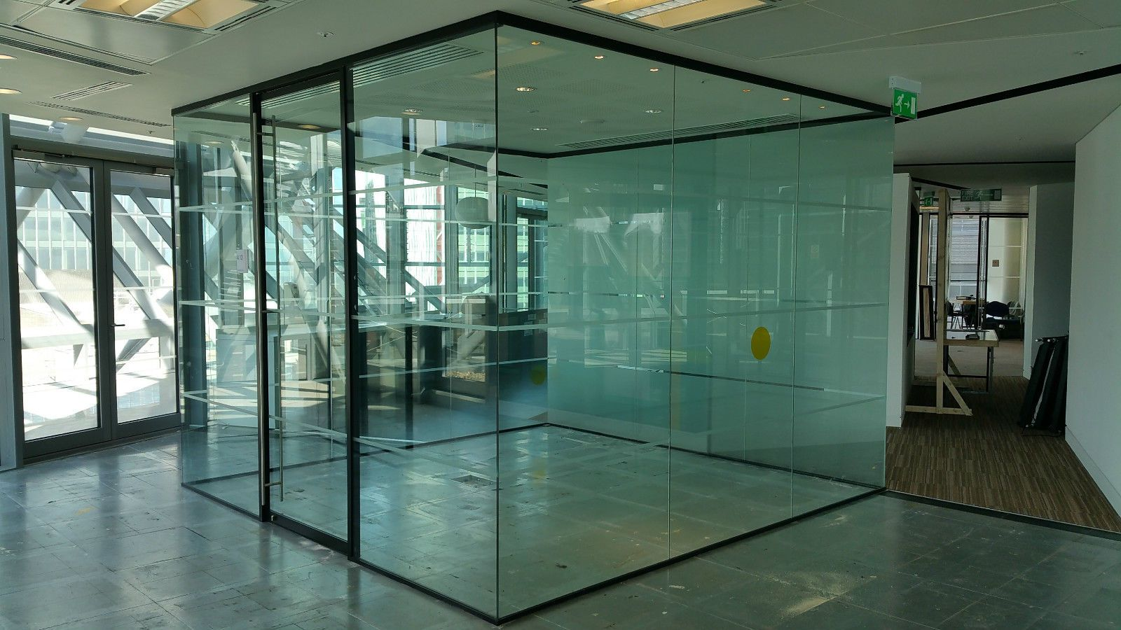 Cubed Glass Partition Systems With 11 Panels 1 Glass Sliding Door 950 Each Sliding Glass Door Sliding Doors Glass Partition