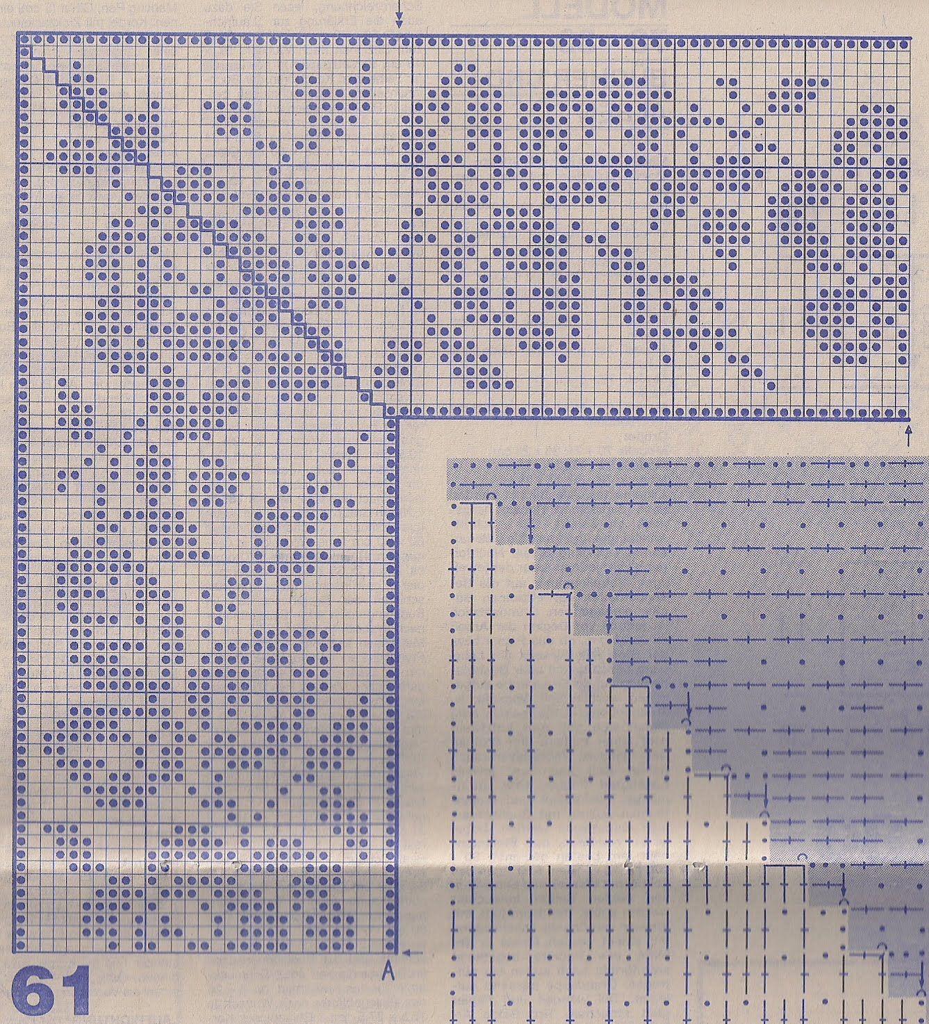 Филейное вязание рисунок