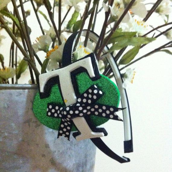 """My custom made """"T-BOW"""" headband from Miss. Priss on Etsy! LOVE IT! #TEBOW"""