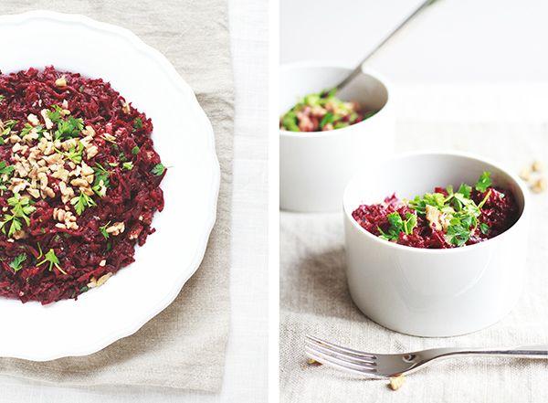 Two Way Beet & Walnut Salad | Fig & Honey