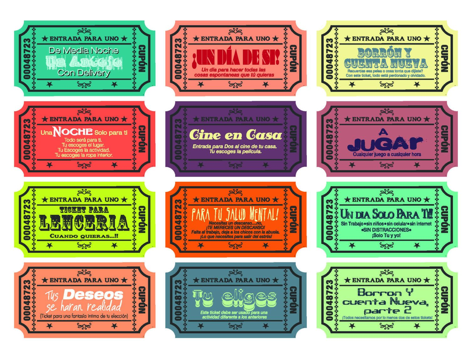 Spanish version - Printable Love coupons for wife/husband ...