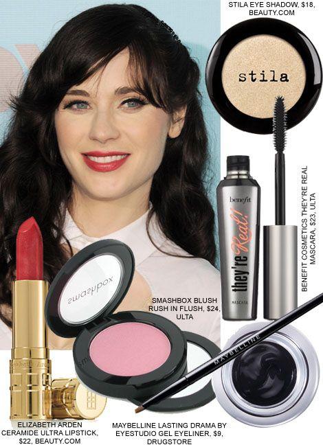 zooey deschanel beauty makeup hair new girl simple and