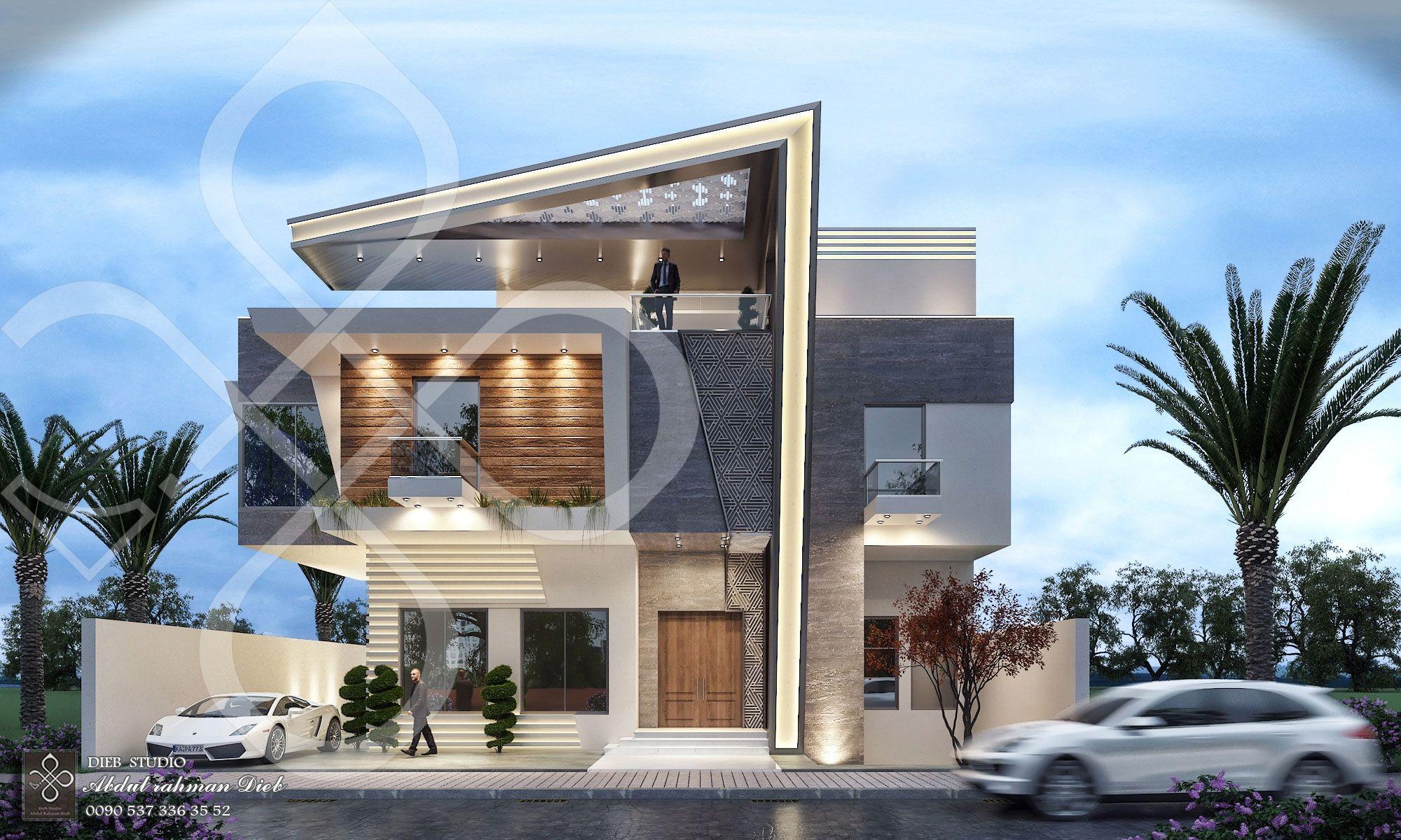 Dieb Studio Designed The Villa Sail In Libya According To The Style Of Modern In 2020 Modern Architecture Building Modern Exterior House Designs Modern Villa Design
