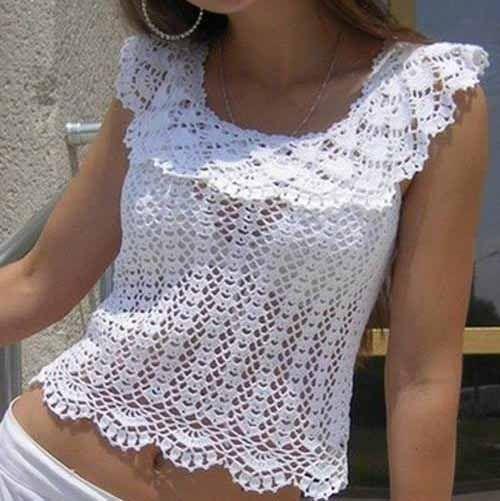 Free Crochet Pattern Blouse | Crochet Hooks and Yarn | tejido gancho ...