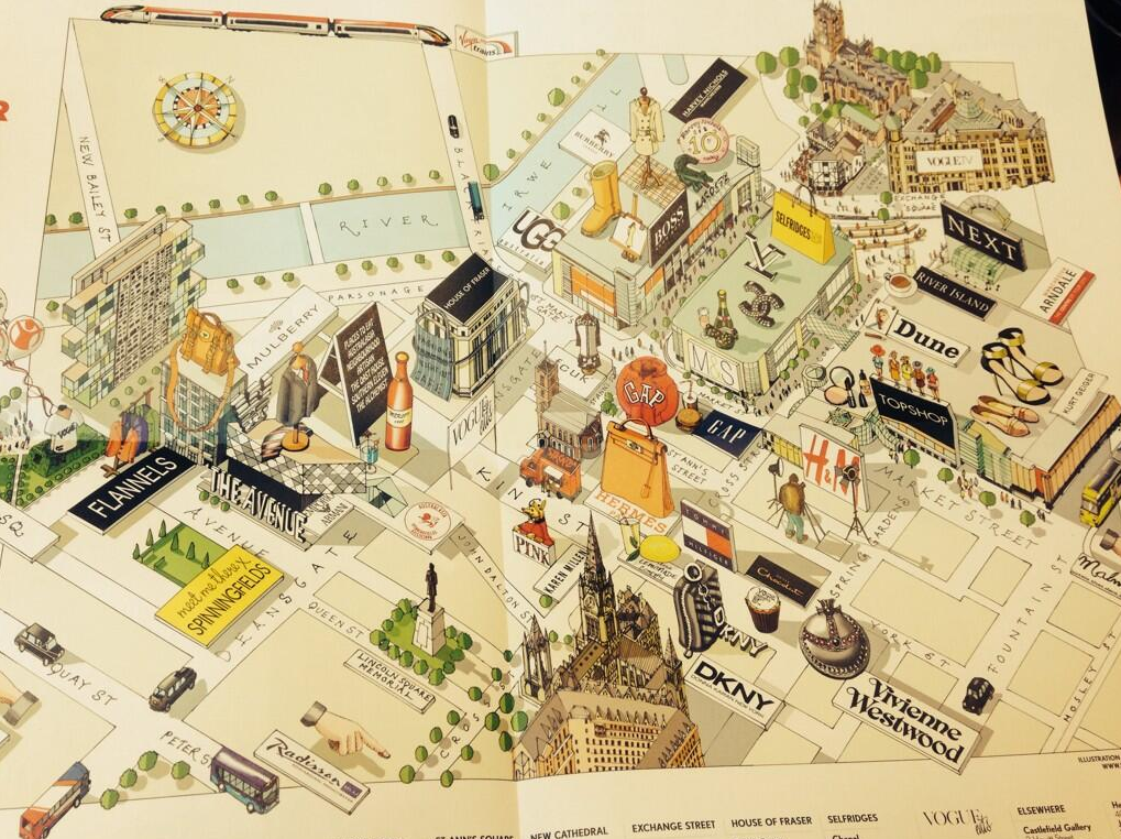Katherine Baxter baxillustrate map Illustrator Manchester City