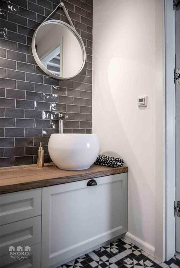 bano-azulejado-gris-2   Bathroom / Baño   Pinterest   Decoration and ...
