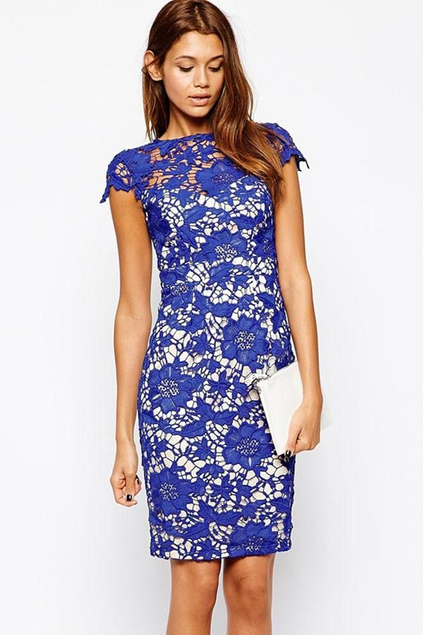 Size Royal Blue Homecoming Cocktail Dress with Ruched Peplum ...