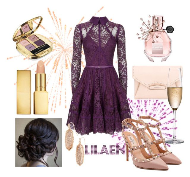 """""""NewYear Party"""" by lilaen on Polyvore featuring Elie Saab, Viktor & Rolf, Valentino, Givenchy, Kendra Scott, Rogaska, AERIN and Dolce&Gabbana"""