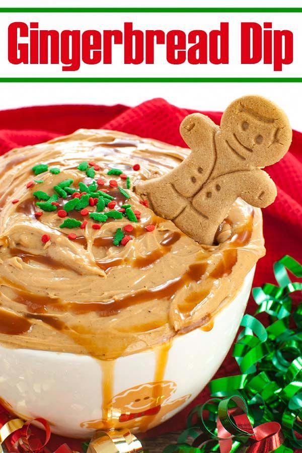 Easy, no bake holiday dessert. This Caramel Gingerbread Cheesecake Dip is a creamy and festive dess