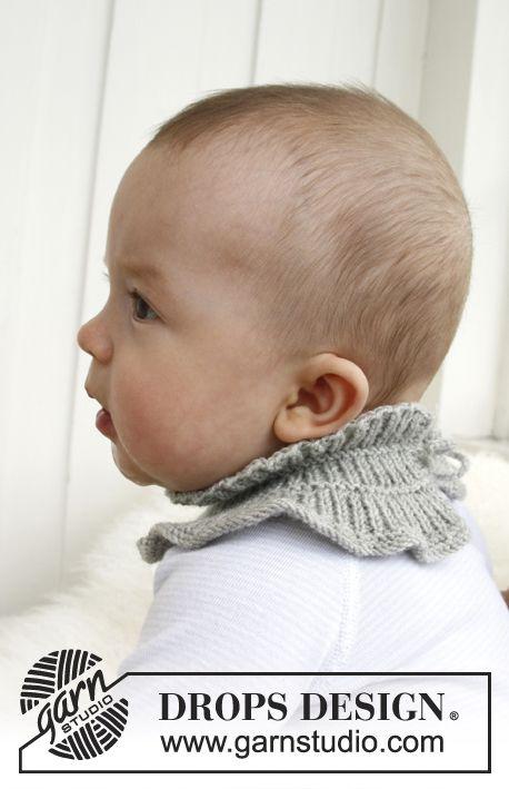 "Strikket DROPS babyskjerf i ""Baby Merino"". ~ DROPS Design"