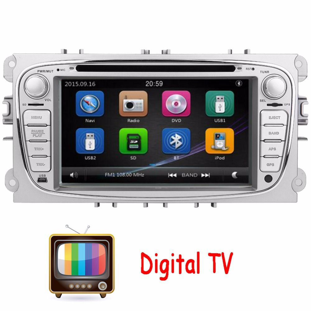 Digital Tv 2din 7inch Car Dvd For Ford Focus Ford Mondeo 2012 2015