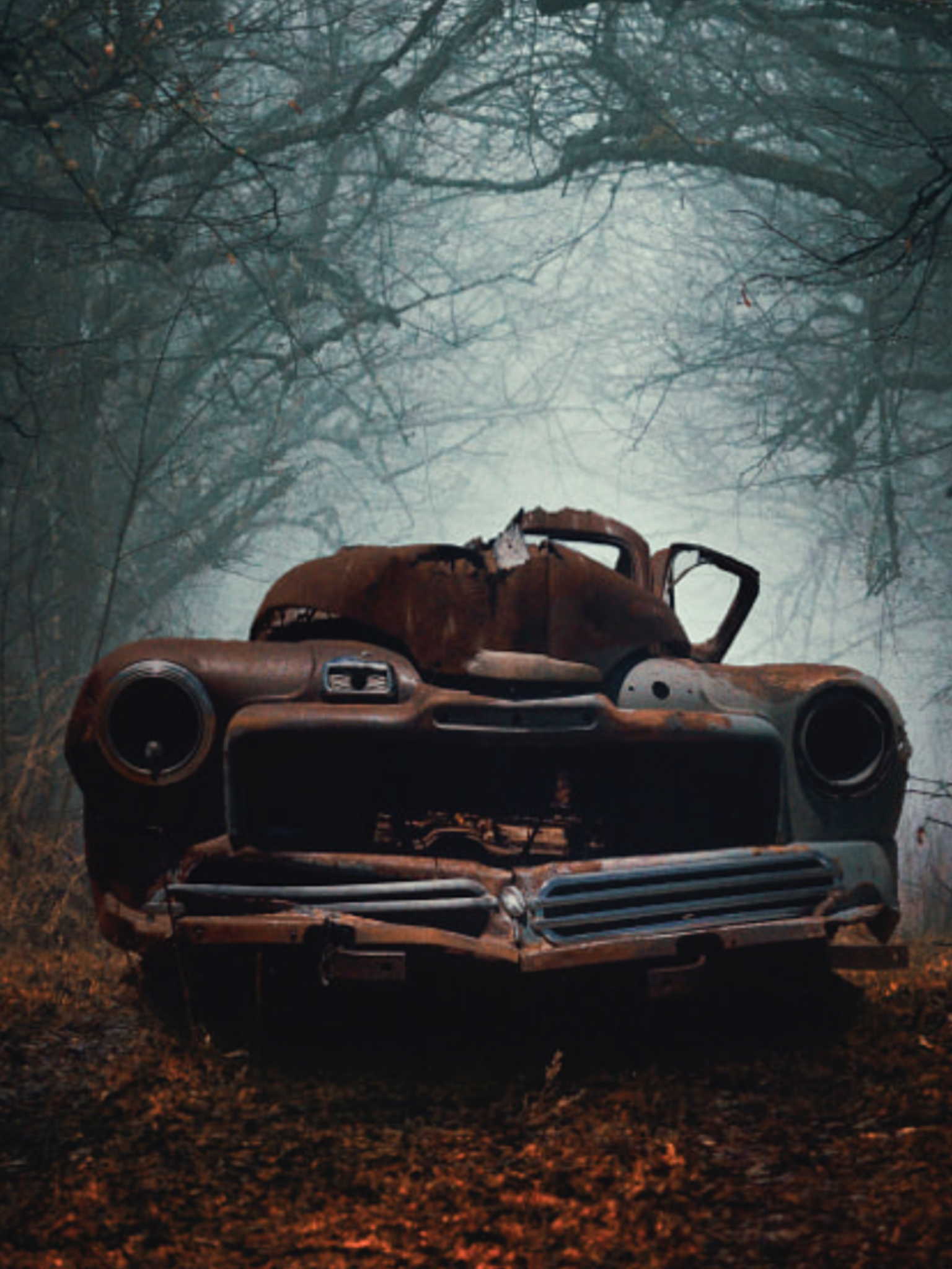 Rusty Car In The Woods Source Facebook Com Beautiful Vintage Cars