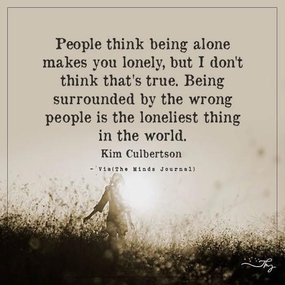 People think being alone makes you lonely (With images