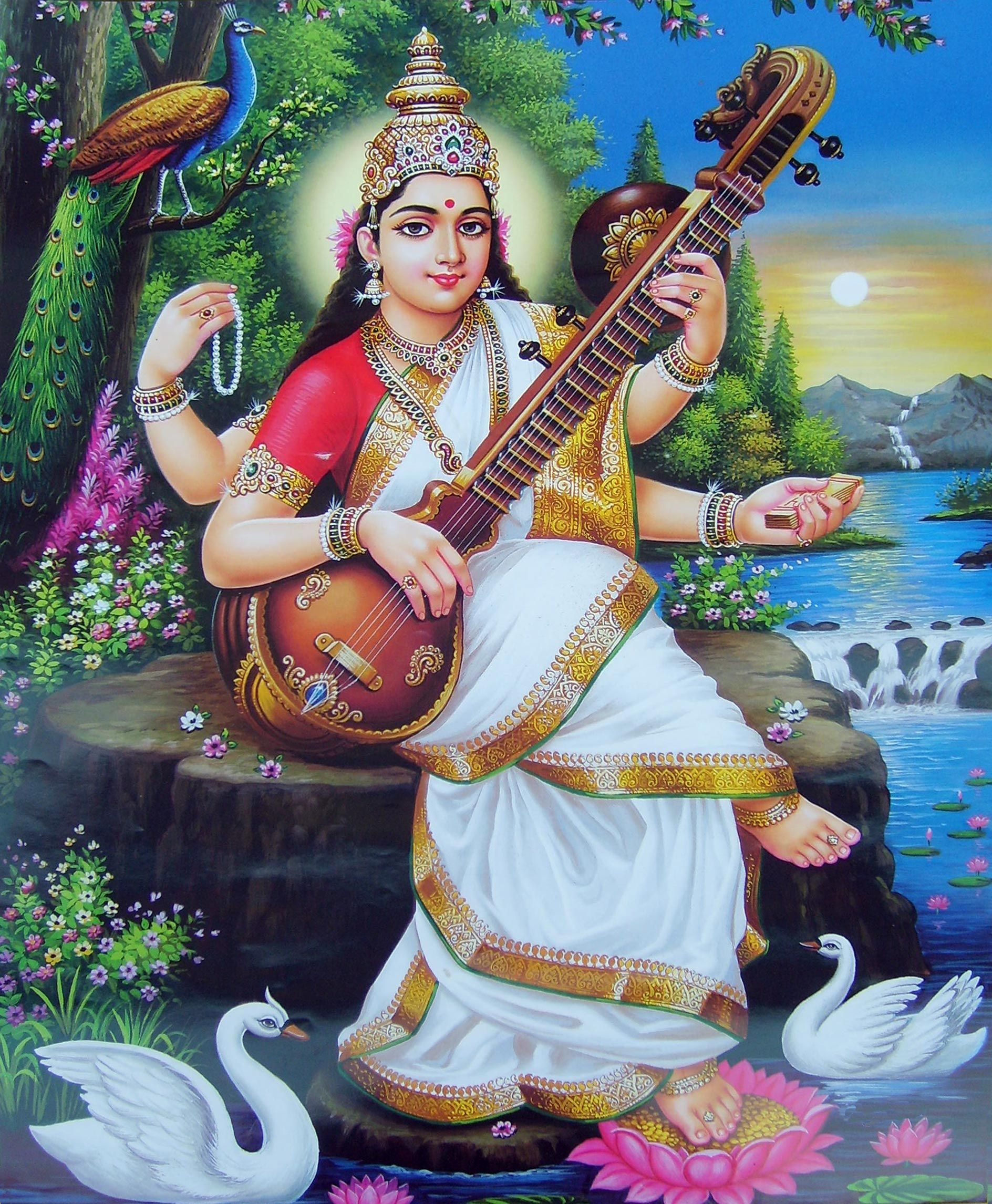 Yogi Superheroes – Day 5 – Saraswati | Hindus, Creativity and Blossoms