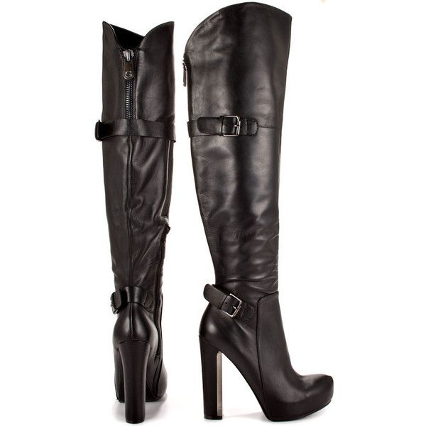 factory outlets 50% price outlet for sale Guess Footwear Women's Vale - Black Leather ($200) ❤ liked on ...