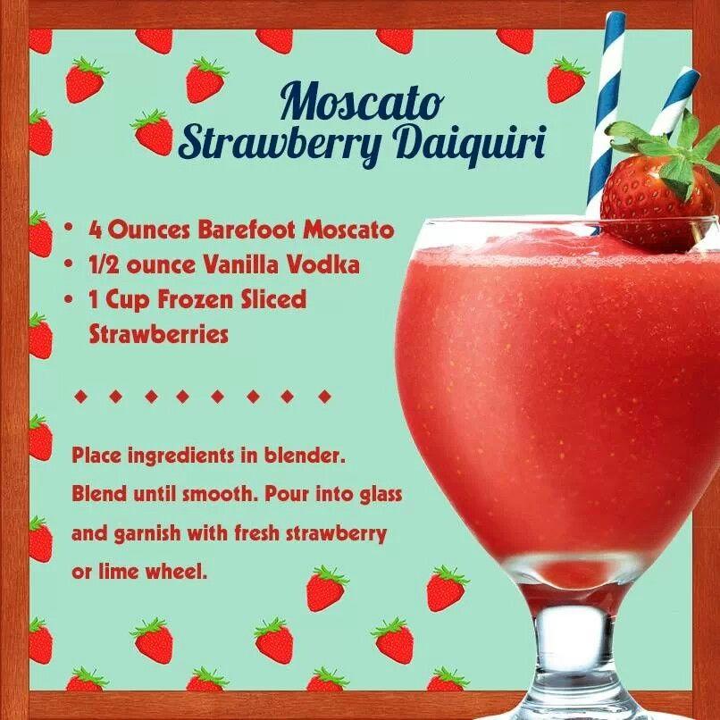 #barefoot Moscato Strawberry Daiquiri Food & Drinks