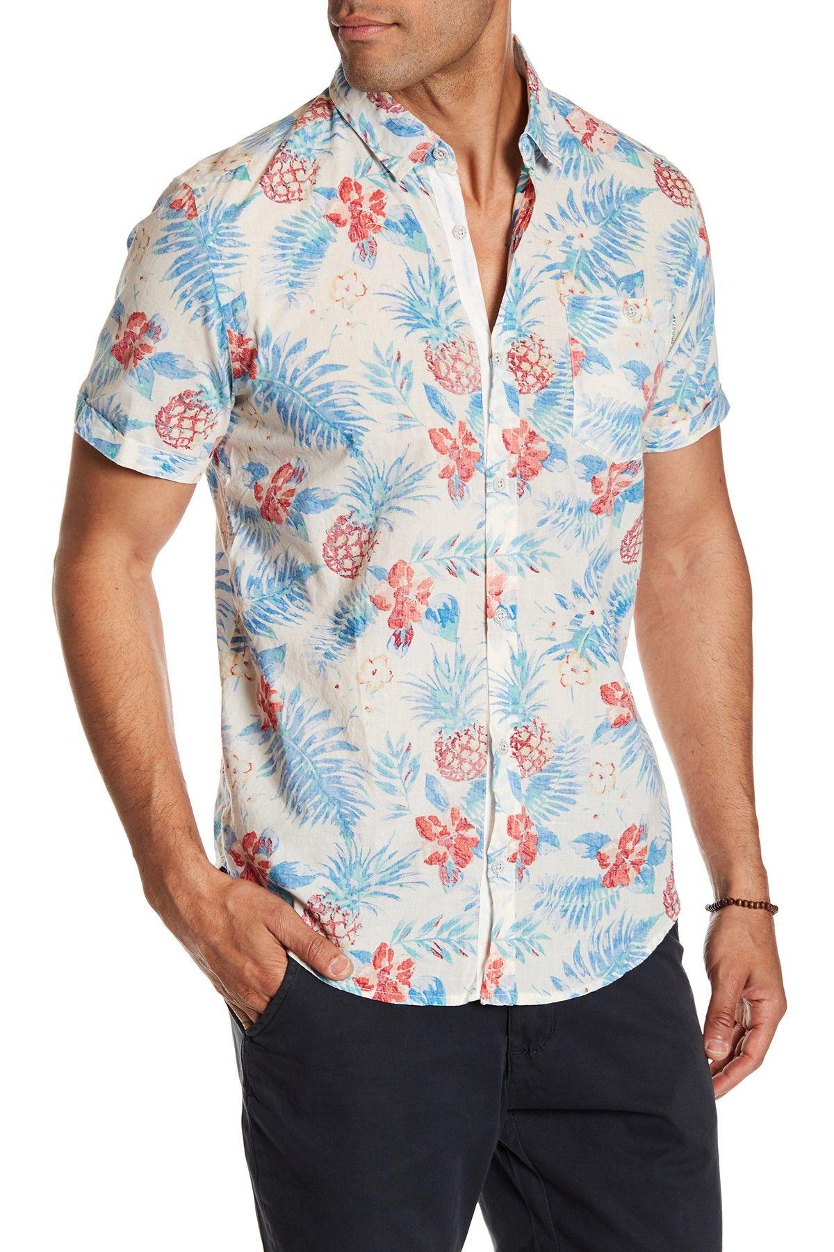 f95d1ab763 Soul Star Paradene Floral Short Sleeve Regular Fit Shirt