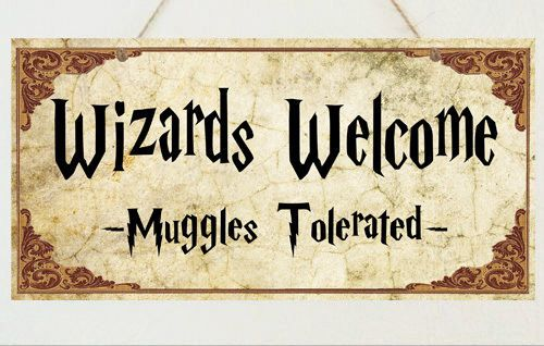 Wizards Welcome Plaque Sign Gift - Harry Potter Room House Present | Home, Furniture & DIY, Home Decor, Plaques & Signs | eBay!