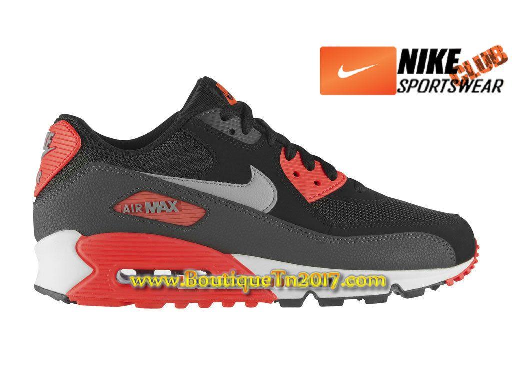 sale retailer 2d1f1 c2596 Nike Air Max 90 Essential Chaussures Nike Basket Pas Cher Pour Homme Noir Rouge  537384