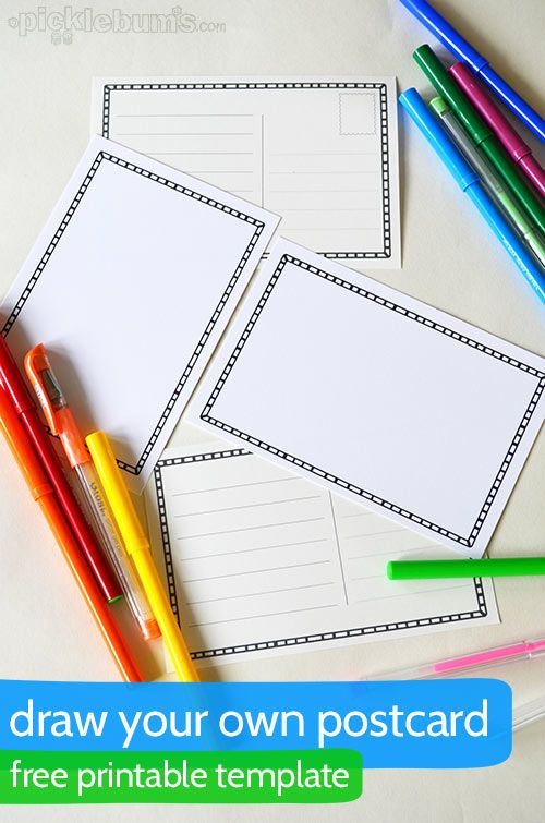 Draw Your Own Postcard Coloring Pages  Free Printables - printable postcard template free