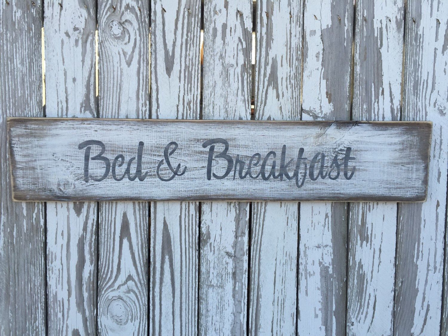 A personal favorite from my Etsy shop https://www.etsy.com/listing/276634812/bed-and-breakfast-sign-ready-to