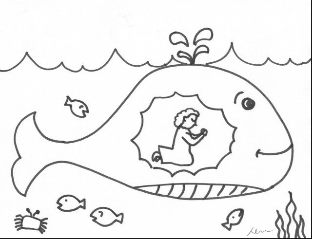 Excellent Picture Of Jonah And The Whale Coloring Pages