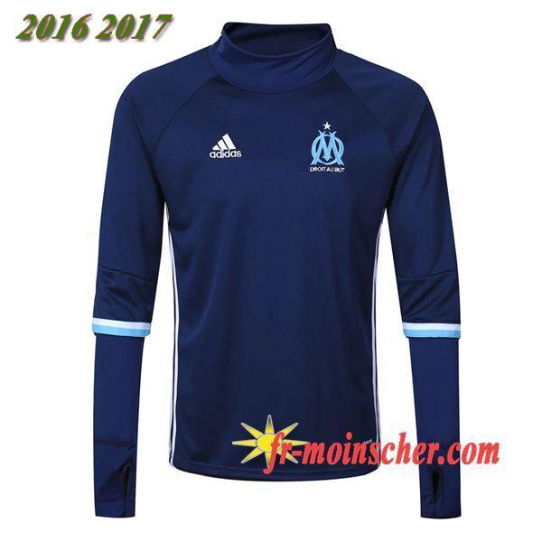 Le Nouveau:Sweatshirt Training de Marseille OM Bleu Marine 2016 2017